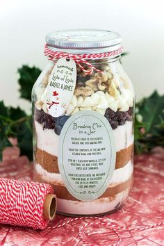 Best Recipes in A Jar - Brownie Mix In A Jar - DIY Mason Jar Gifts, Cookie Recipes and Desserts, Canning Ideas, Overnight Oatmeal, How To Make Mason Jar Salad, Healthy Recipes and Printable Labels diyjoy.com/...