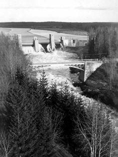 Newly built dam