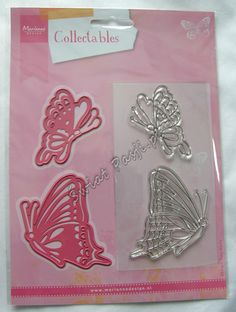 wykrojnik Marianne Design - motyle + stemple [COL1319] Świat Pasji