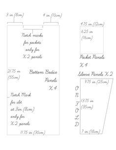 Oversized Dress (Linen) pattern part 2 of 2
