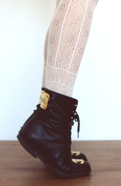 Chanel combat boots- would kill for these...