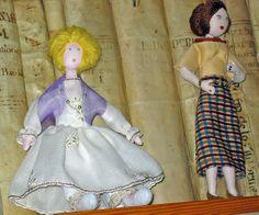 muñecas de trapo realizadas a mano