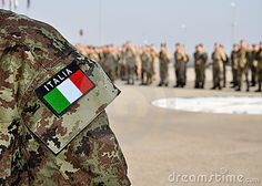 italian armed forces | Italian Armed Forces Uniform With Tricolore Royalty Free Stock Image ...