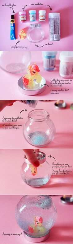 DIY My Little Pony Snow Globe Tutorial fun kids crafts, kid ideas, #kids #diy kids diy ideas