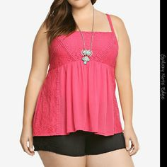 Torrid Coral baby doll shirt EUC Only worn once or twice . Great summer shirt. torrid Tops Tank Tops