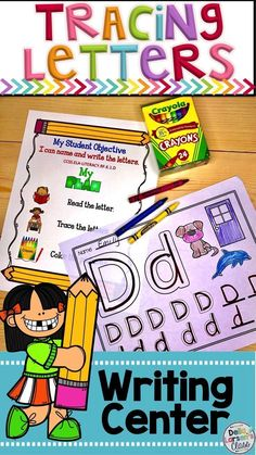 Learning to write letters is a crucial skill in kindergarten. This no prep worksheet has kids tracing letters and identifying beginning sounds Alphabet Writing, Teaching The Alphabet, Kindergarten Literacy, Preschool Learning, Kindergarten Classroom, Preschool Activities, Elementary Teacher, Classroom Ideas, Elementary Education