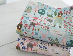 Forest-story-100-coton-tissu-animal-caracteres-quilting-animaux-fox-ff173