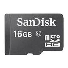 SanDisk SDSDQT-016G-AW46A 16 GB Class 4 microSDHC Memory Card