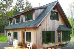 Timber Frame Cabin, Castine Maine