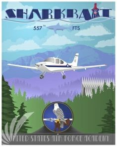 Air Force Academy poster art print only from Squadron Posters! Naval Aviator, Air Force Academy, Pensacola Beach, Beach Signs, Paint Schemes, Training Courses, Leadership, Aviation, The Unit