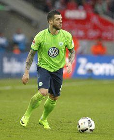 Vieirinha of Wolfsburg runs with the ball during the Bundesliga match between 1. FC Koeln and VfL Wolfsburg at RheinEnergieStadion on February 4, 2017 in Cologne, Germany.