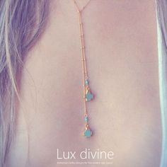Lux Divine ネックレス・ペンダント ★MARIA ターコイズ ラリアット ネックレス★Luxdivine★