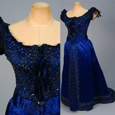 Evening dress, by the House of Worth, ca. 1880s. Whitaker Auctions