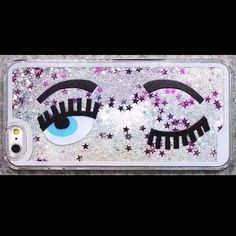 Sale 🎉Glitter water fall 6/6S iphone case Glitter bling blinking wink big eyes iphone 6 hard case new in package Accessories Phone Cases