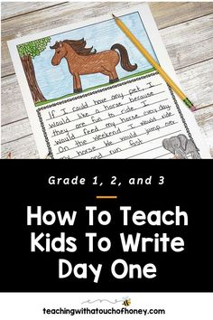 Get your kids writing with fun, engaging activities. These ideas are perfect if you are a parent trying to get your child to write at home or a teacher working in the classroom or through distance learning, Writing Lesson Plans, Writing Lessons, Kids Writing, Teaching Writing, Writing Activities, Creative Writing, Teaching Kids, How To Teach Kids, Report Writing