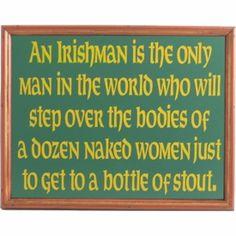 An Irishman-Bottle Of Stout Wood Sign Framed    http://www.tjsvariety.com/an-irishman-bottle-of-stout-wood-sign-framed.html