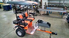 Golf Carts - Custom Built 4 Person Golf Cart Trailer Pull Behind Tag A Long Brand Yamaha Golf Carts, Golf Tips Driving, Golf Cart Accessories, Utv Accessories, Custom Golf Carts, Cleveland Golf, Golf Score, Golf R, Golf Drivers