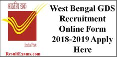 West Bengal GDS Recruitment Online Form 2018-2019,West Bengal GDS Recruitment 2018, west bengal post office recruitment 2018, wb post office recruitment 2018, west bengal post office recruitment 2017 apply online, west bengal post office website, gramin dak sevak branch postmaster recruitment, wb gds recruitment 2018,