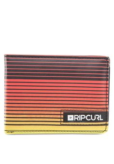 Red Ozone PU Wallet by Rip Curl features bi-fold design with stripe prints design. This stylish wallet is perfect for a casual day out.  http://zocko.it/LE5DR