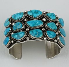 Guy Hoskie - Sterling Silver Cuff Bracelet - Native American Jewelry - Leota's Indian Art is home to renowned Native American jewelry artists.