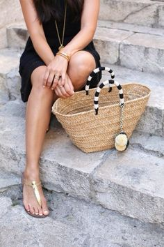 LBD paired w/ casual summer accessories