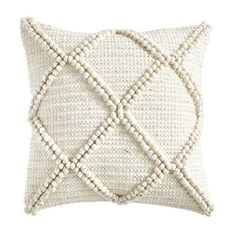 Tufted Diamond Ivory Pillow Bursting with texture, our exclusive neutral throw pillow adds subtle pattern and energy to any sofa, armchair or bed. Boho Throw Pillows, White Pillows, Couch Pillows, Accent Pillows, Couch Pillow Arrangement, Throw Blankets, Sofa, Pillos, Home Panel