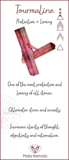 What is the meaning and crystal and chakra healing properties of tourmaline? A stone for protection and love.