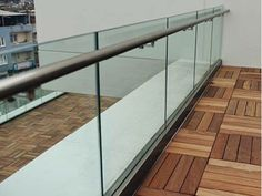 aluminum base shoe glass railing also called aluminum channel glass railing,its advanced in easy mounting Balcony Glass Design, Glass Balcony Railing, Balcony Grill Design, Balcony Railing Design, Fence Design, Glass Handrail, Glass Railing System, Glass Balustrade, Modern Stair Railing