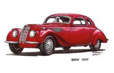 Red 1937 BMW Car $3