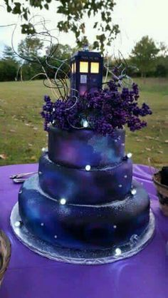 TARDIS Doctor Who cake. Darcy777 - I would cry if I had someone in my life that…