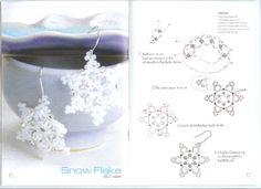 Beaded Snowflake PATTERN earrings