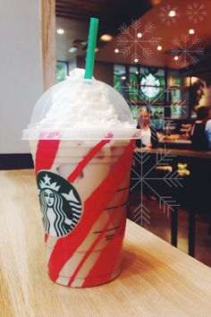 Iced White Chocolate Mocha with peppermint syrup - available all year long. Summer can be cozy too :)