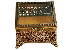 1950s Ormolu Filigree Keepsake Box on OneKingsLane.com