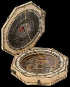 Diptyque Cadran solaire en ivoire dieppois