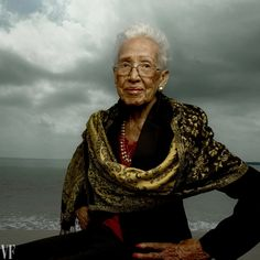 "Katherine Johnson, the NASA Mathematician Who Advanced Human Rights with a Slide Rule and Pencil NASA chief Charles Bolden recalls the historic trajectory of the ""human computer"" who played a key role in the Apollo 11 moon landing, and as a female African-American in the 1960s, shattered stereotypes in the process. (Katherine Johnson, photographed at Fort Monroe, in Hampton, Virginia. Photograph by Annie Leibovitz)"