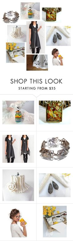 """""""That Touch of Yellow"""" by inspiredbyten ❤ liked on Polyvore featuring Hostess"""