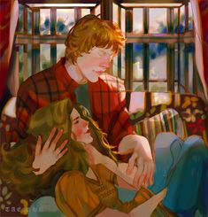 Harry Potter Ron And Hermione, Harry Potter Couples, Harry Potter Artwork, Harry Potter Ships, Harry Potter Drawings, Harry Potter Images, Harry Potter Universal, Harry Potter World, Harry Potter Hogwarts