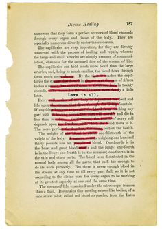 heart black out....do this on a page