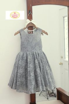 ❀ Welcome to MonbebeLagos Handmade dress shop ❀ Dress is pure handmade .This is the full lace version of popular gray color, sheer neckline with a