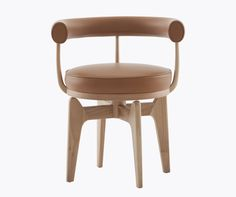'Indochine' swiveling chair by designer Charlotte Perriand, re-editioned by Cassina.