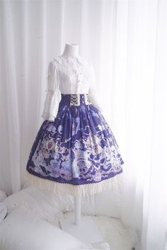 Arcadian Deer [Four Elements of Astrology - Air Signs] Lolita Skirt
