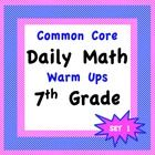 Awesome Daily Math Warm Ups for the 7th grade. Common Core Aligned!