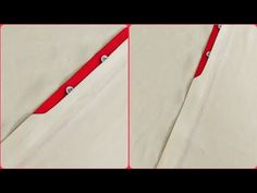 Shirt hidden button placket design - YouTube