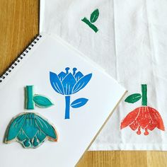 Follow My Stamped World for a crafty journey into printmaking with hand carved stamps