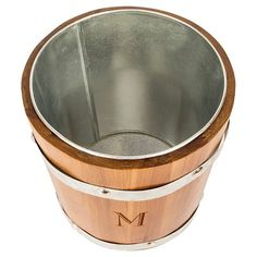 Cathy's Concepts Personalized Rustic Ice Bucket - Z, Brown Silver