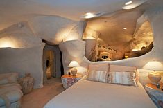 An iconic celebrity needs an equally impressive home, and that is exactly what television legend Dick Clarke has had. The 82-year-old is selling his Malibu retreat and the house looks just like the Flintstones' home in the famous cartoon. Sitting on top of a very steep hill, the specially designed home is on the market for $3.5million but it's appearance from the outside is not the biggest selling point it has to offer.   The unusual architectural retreat has huge glass windows in every room…