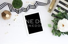 Check out Styled Stock Photo - Desktop & iPad by divagonedomestic on Creative Market