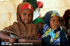 Young Somali refugees at a refugee camp in Dadaab, Kenya