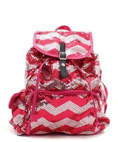 d28b89fdc01e Sequin Chevron Stripe Backpack Handbag Women Teens Girls Cheer Dance Sports   Unbranded  BackpackStyle Backpack