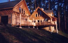 Lock-up shell complete Log Cabin Getaways, Getaway Cabins, Wooden Cabins, Dream House Plans, Log Homes, Wyoming, Shell, Construction, Traditional